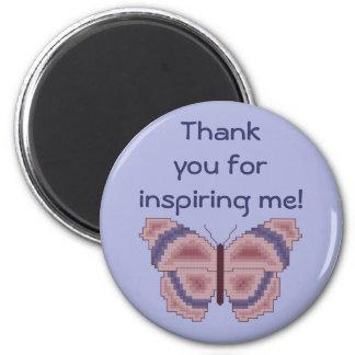 Tacka dig för att inspirera mig! Fjärilsmagnet Magnet