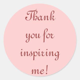 Tacka dig för att inspirera mig! Klistermärkear Runt Klistermärke