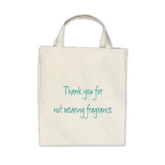 Tacka dig för att inte ha på sig doft tote bags