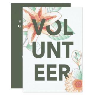 tacka dig för att ställa upp som frivillig blommor 8,9 x 12,7 cm inbjudningskort