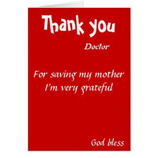 Tacka dig för besparing min mordoktor hälsningskort