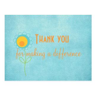 Tacka dig för danande ett vykort