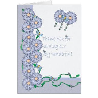 Tacka dig för danande min bröllopsdagsakkunnig hälsningskort