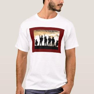tacka dig för ditt tjänste- t-shirts
