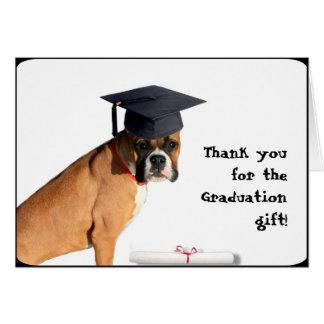 Tacka dig för kortet för studentengåvaboxare hälsningskort