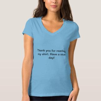 Tacka dig för läsning min skjorta tee shirts