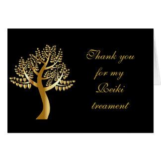 Tacka dig för min Reiki behandling Hälsningskort