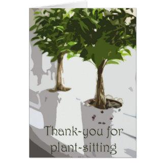 Tacka-dig för växt-sitta hälsningskort