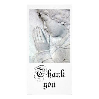 Tacka dig hälsningskort med foto