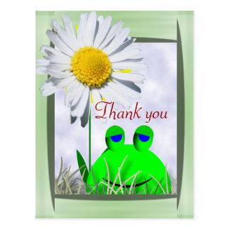 Tacka dig grodan och daisyn vykort