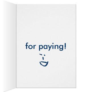 Tacka dig! hälsnings kort