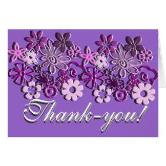 Tacka dig! hälsningskort