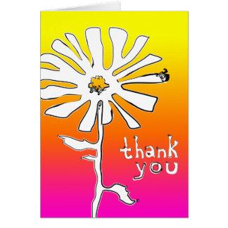 tacka dig: indie squigglesblomma hälsningskort