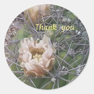 tacka dig kaktusblommaklistermärken runt klistermärke