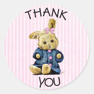 Tacka dig klistermärkear för rosor för runt klistermärke
