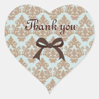 tacka dig klistermärkemallen hjärtformat klistermärke