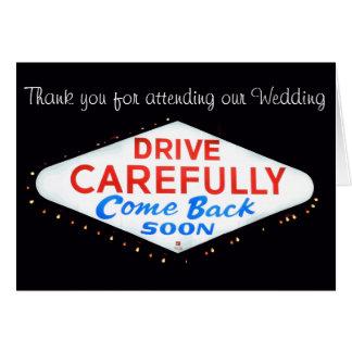 Tacka dig kortet för Las Vegas bröllopnygift perso