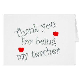 Tacka dig lärare hälsningskort