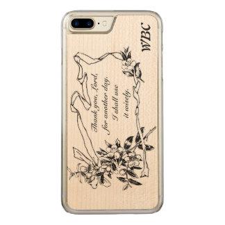 """""""Tacka dig, Lord, påminnelsedesignen för för en Carved iPhone 7 Plus Skal"""