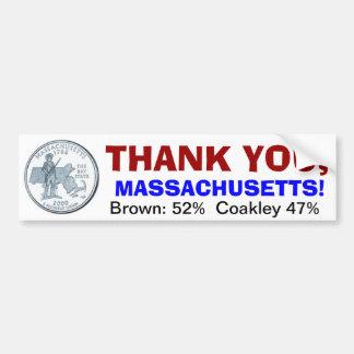 Tacka dig, Massachusetts Bildekal