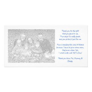 Tacka dig photocarden från bebis fotokort