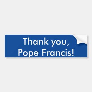 Tacka dig, Pope Francis! Bildekal