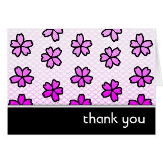tacka dig: retro blommigt: hälsningskort