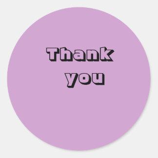 Tacka dig runt klistermärke