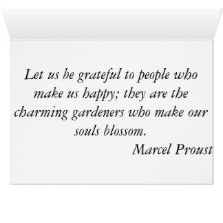 Tacka dig - solnedgången Marcel Proust Hälsningskort