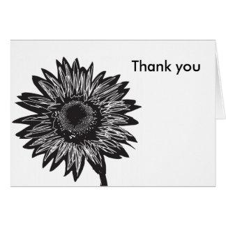 Tacka dig solroskortet hälsningskort