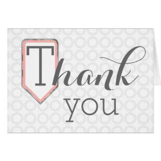 Tacka dig | som den blandade grå färg för stilsort OBS kort