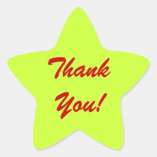 """""""tacka dig"""" tålmodiga fakturera klistermärkear stjärnformat klistermärke"""
