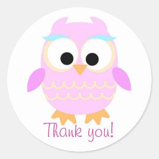 Tacka dig ugglaklistermärken runt klistermärke