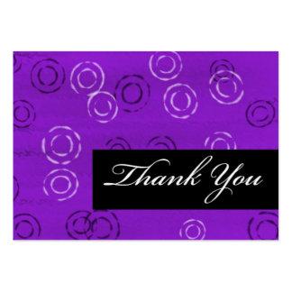 Tacka Du-violett retro Set Av Breda Visitkort