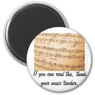 Tacka en musiklärare magnet