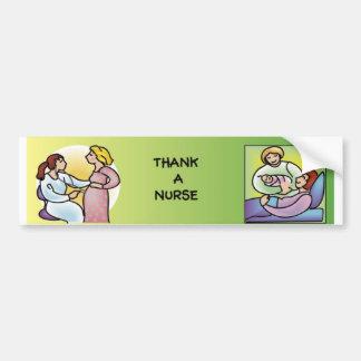 Tacka en sjuksköterska - moderskap bildekal