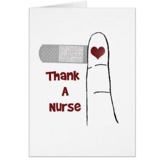 Tacka ett tomt hälsningkort för sjuksköterska hälsningskort
