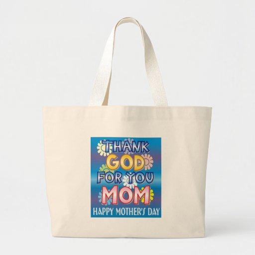 Tacka guden för dig, mamma tote bag
