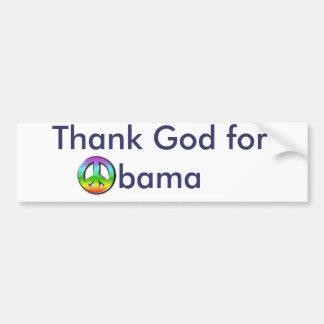 Tacka guden för Obama Bildekal