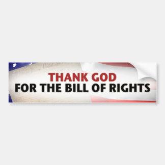 Tacka guden för räkningen av rättigheter bildekal