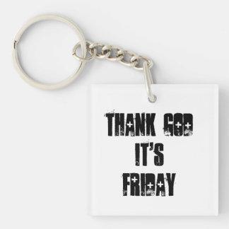 Tacka guden som det är fredagkeychain
