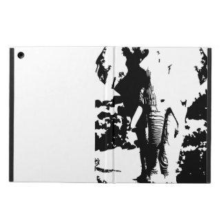 Täcka med den svartvita tryckelefanten iPad air skydd