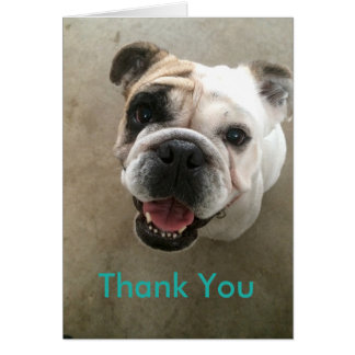 Tackar den älsklings- barnvakten för bulldogg dig hälsningskort