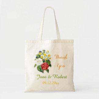 tackar färgrika blommor för vintage som gifta sig tygkassar