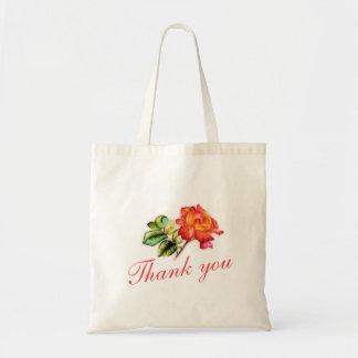 Tackar rosa bröllop för orange tea dig hänger lös tote bags