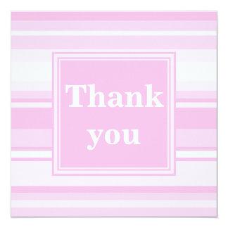 Tackar rosa randar för baby dig att card fyrkantigt 13,3 cm inbjudningskort