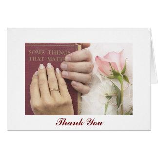 Tackbröllopkort Hälsnings Kort