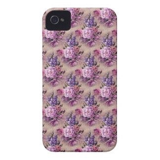 Täcker den blom- björnbäret för vintagelilabruntet iPhone 4 Case-Mate skal