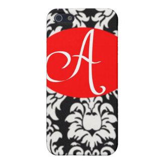 Täcker den initiala telefonen för svart- & vitdama iPhone 5 hud