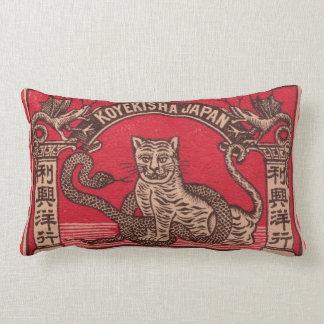 Täcker den japanska tändsticksasken för vintage lumbarkudde